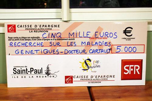 5 000 € à l'équipe de Recherche du  Docteur François CARTAULT