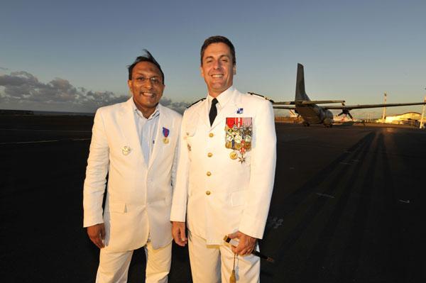 Ibrahim INGAR & Colonel Pierre EDERY - Commandant de la Base Aérienne 181