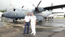 <center>Ils s'envolent à bord du CASA: <br> le Détachement Air 181<br> réalise  le rêve des marmailles de 1000 Sourires