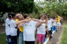 <center>Tir à l'arc: Les marmailles de 1000 Sourires<br> se prennent pour Robin des bois