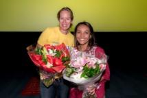 Albane Thiriez, responsable Equipe Marketing de Nestlé Réunion, partenaire de l'opération et Marie-Alice Sinaman