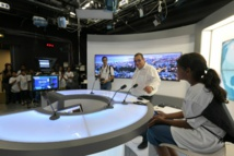<center>Radio, télé, Internet :<br> les marmailles de 1000 Sourires  découvrent <br>les coulisses de Réunion La 1ère