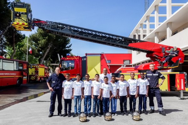 """<center>""""S'envoler vers le Rêve ...""""  <br> Jour 4 :Une journée citoyenne inoubliable <br>avec les marins-pompiers de Marseille"""
