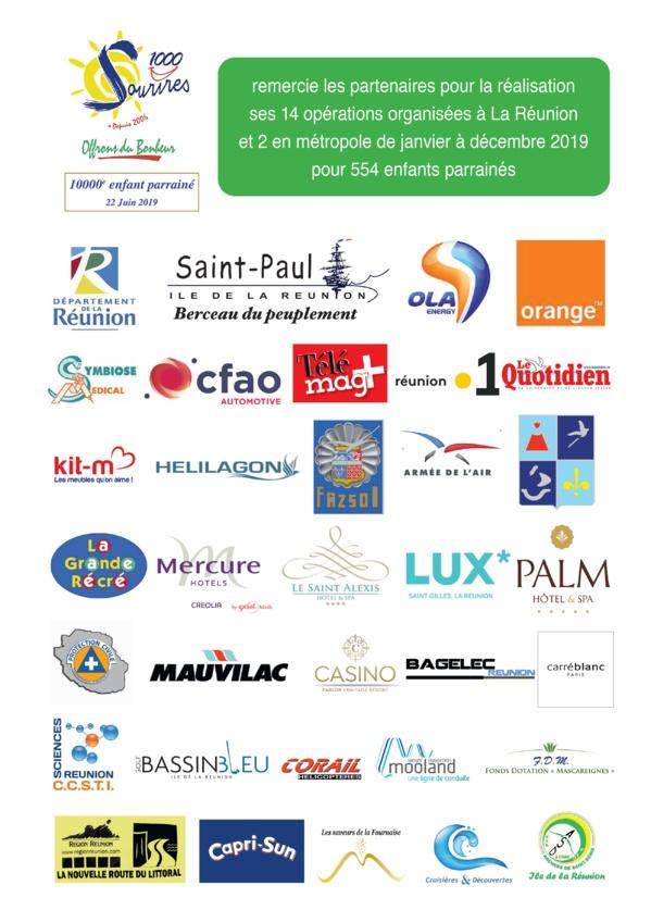 Partenaires des opérations Réunion 2019