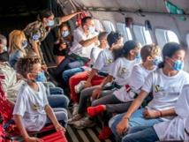 <center>15ème Anniversaire - 23 juin 2021 : Jour 3<br> 1000 Sourires fête ses 15 ans avec <br> Marie-Antoinette Katoto, Fabrice Abriel et <BR>Gaëlle Malet au Détachement Air 181