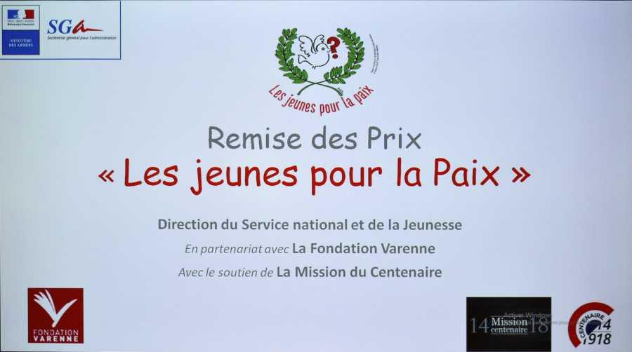 """<center>Concours National """"Les jeunes pour la paix"""" : <br> le jeune Saint-Paulois Camille Labbe primé"""