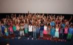 <center>Nestlé Réunion fête ses 50 ans<br> avec 150 enfants au cinéma