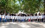 <center>Les marmailles découvrent la Réserve Marine <br>  avec les 12 candidates de Miss Réunion