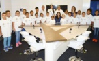 <center>Les marmailles de 1000 Sourires <br> dans les coulisses d'Antenne Réunion <br>avec Audrey Chane Pao Kan, Miss Réunion 2017