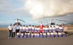 Les V.I.M. de  1000 Sourires fêtent Noël à bord  d'un hélicoptère