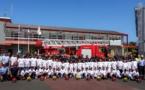<center>Une journée dans la peau d'un sapeur-pompier <br>pour les marmailles de 1000 Sourires