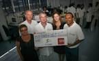 «1000 Sourires s'associe à SFR pour offrir un chèque de 3000 € à l'équipe de recherche du Docteur CARTAULT»
