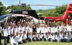 <center>Soan, Nono et PLL rencontrent les marmailles de 1000 Sourires  au Palm Hôtel &amp; Spa *****