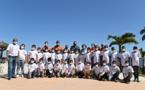 <center>Les marmailles de 1000 Sourires<br> invités au Mercure Créolia <br>pour fêter Noël avant l'heure