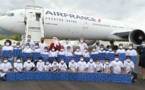 <center>1000 Sourires fête Noël avec Air France <br> et le Détachement Air 181