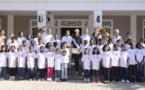 <center>Miss Réunion  et  Thierry Jardinot,<br> nouveaux parrains de 1000 Sourires<br>   émerveillent les marmailles  au Lux* - Ile de la Réunion
