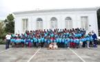 Noël de Rêve pour les marmailles de 1000 Sourires avec le Père Noël Bleu XL Airways