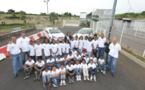 <center>Les VIM  de 1000 Sourires  découvrent le Rallye <br>avec le champion Malik Unia  et Miss Réunion
