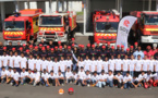 <center>Journée citoyenne  pour les VIM de 1000 Sourires <br>  avec les pompiers du SDIS et Miss Réunion 2015